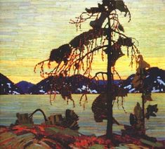EuroGraphics Jack Pine by Tom Thomson Puzzle. Although not a member, Tom Thomson directly influenced a group of painters that would come to be known as the Group Of Seven. Group Of Seven Artists, Group Of Seven Paintings, Emily Carr, Canadian Painters, Canadian Artists, Landscape Art, Landscape Paintings, Landscape Posters, Tom Thomson Paintings
