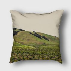 Napa Little Vines Outdoor or Indoor Pillow by LemoneeOnTheHills