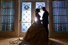 This stunning and romantic fairy tale moment was captured at Disney's Wedding Pavilion - LOVE the Belle style dress!