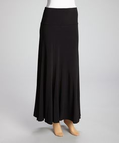 Another great find on #zulily! Black Maxi Skirt - Women & Plus by Come N See #zulilyfinds