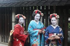 Geisha, Girls, Kimono, Culture, Woman, Make-Up
