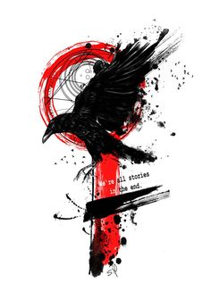tattoo trash polka for men . Red Tattoos, Body Art Tattoos, Small Tattoos, Tattoos For Guys, Sleeve Tattoos, Black Crow Tattoos, Black Red Tattoo, Phoenix Tattoos, Tattos