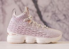 acbbd4e33aee 2018 KITH x Nike LeBron 15 Rose Gold Basketball Shoes Cheap Sale Houston  Basketball