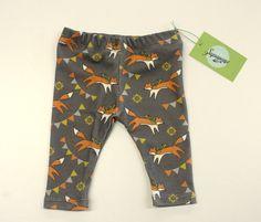 Fox print baby leggings in cotton/spandex jersey