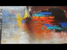 Abstract painting / Only using brayer and palette knife / Acrylics / Demonstration - YouTube