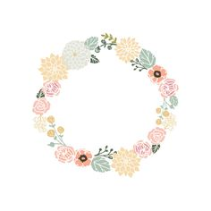 Floral wreath clipart from Berserk on. 15 Floral wreath picture library library professional designs for business and education. Clip art is a great way to help illustrate your diagrams and flowcharts. Deco Floral, Motif Floral, Floral Border, Frame Floral, Flower Frame, Wreath Watercolor, Watercolor Flowers, Easy Watercolor, Vintage Flowers