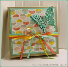 Stampin Up! Box, Sale-A-Bration, Thinlints Butterfly