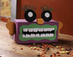 earth day crafts with recyclable material | Preschool Crafts for Kids*: Halloween Tissue Box Monster Craft