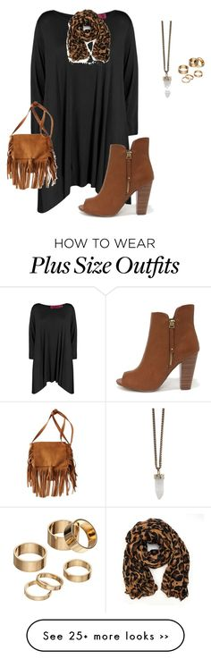 """""""plus size fall black and brown look"""" by kristie-payne on Polyvore featuring Boohoo, American Eagle Outfitters, Givenchy and Apt. 9"""