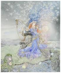 Spirit Guides by Kinuko Y. Graphite and color pencil on Arches paper. Graphic 45, Redhead Art, Psychedelic Drawings, Fairy Tales For Kids, Fantasy Authors, Principles Of Art, Art Textile, Mystique, Fairytale Art