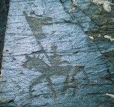 Ancient Turkic Wolf-head flag petroglyphs dated  BC 2000 from modern Kazakhstan.  KURT SANCAK/ MÖ.2BİN KAZAKİSTAN
