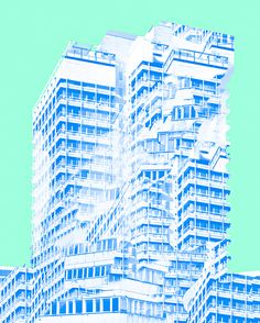 Daniel Everett architectural collages