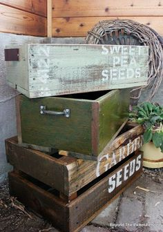 Crates Made From Reclaimed Wood