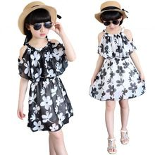 2017 Girls Summer Short sleeve printing Dress Girls Fashion Lace princess dress Kids Dresses for Girls Clothes 4 6 8 10 12 Years(China (Mainland))