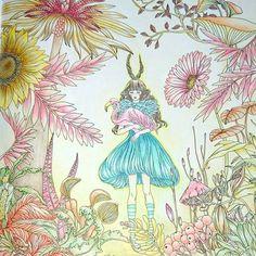 #コロリアージュ #大人の塗り絵 #coloriage #ひみつと魔法の旅ぬり絵 #pandoracoloringbook  #色鉛筆