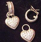 Judith Ripka Sterling Silver Huggable Hoop Earrings  Diamonique Heart Charms - amp, Charms, diamonique, Earrings., Heart, Hoop, Huggable, Judith, Ripka, silver, Sterling - http://designerjewelrygalleria.com/designer-jewelry-galleria/judith-ripka-sterling-silver-huggable-hoop-earrings-diamonique-heart-charms/