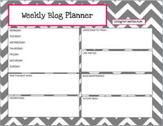 Weekly Blog Planner Freebie - a TON of free printables! WOW!  I love this.