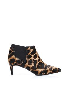 Animalier printed pony leather ankle boot, super coloured, leather sole and coated pony heel. An elastic and coloured band wrap around tha ankle. Aggressive! @Guardiani