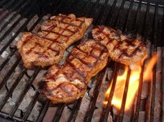 Best Grilled Pork Chops. The recipe calls for a two hour marinade. I'd do it twice as long next time for even more flavor, but this is definitely one we'll be doing again!