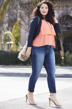 Gorgeous plus size blogger, Girl with Curves, for maurices.