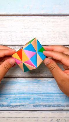 Diy Crafts Hacks, Diy Crafts For Gifts, Creative Crafts, Cool Paper Crafts, Paper Crafts Origami, Diy Paper, Instruções Origami, Oragami, Easy Origami Box