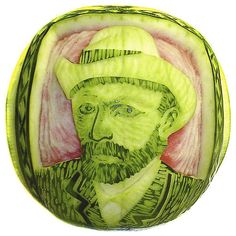 Watermelon carvings by Takashi Itoh