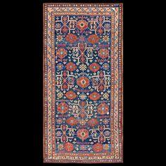 Stock Id: #19328    General Rug Type:       Caucasian    Specific Rug Type:       Caucasian-Zeychor    Circa: 1880    Color: Blue    Origin: Caucasus    Width: 5' 10'' ( 177.8 cm )    Length: 12' 0'' ( 365.8 cm )
