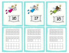 Here's a tooth fairy ten frame matching activity for the numbers 10-30.