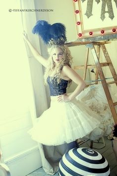vintage show girls circus prom dresses top hat photography