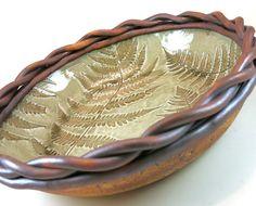 Large Pottery Serving Bowl Decorative Ceramic by Botanic2Ceramic