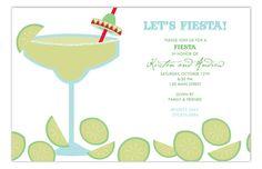 Polka Dot | Margarita with Salt Invitation   #Fiesta #Party #Invitations