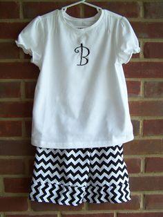 Inital Chevron Capri or Short Set by BrooklynsBoutique2 on Etsy, $28.00 Custom Made Clothing, Short Set, Chevron, Capri, T Shirts For Women, Etsy, Clothes, Tops, Fashion