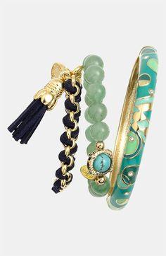 Cara & Sequin Bracelets | stacked bracelets