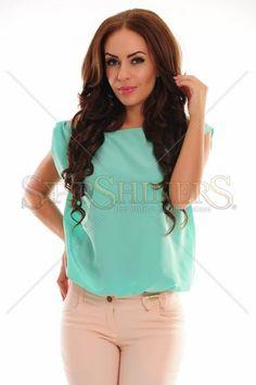 PrettyGirl Timely Mint Blouse