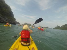 Kayaking in the Ang Thong National Park, Koh Samui, Thailand  #kayak #AngThong #nationalpark #KohSamui #Thailand #openocean #paddle #water #sky #lifevest #gopro #hero3 #extremesport