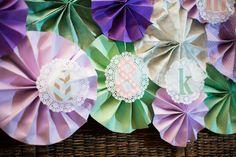 Lavender & Mint Paper Pinwheels.