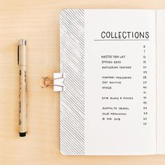 Bullet journal table of contents, bullet journal index, geometric design. | @journautical