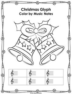 Christmas Color by Music Symbol worksheets! Includes template like this one so you or your students can create their own  ♫ CLICK through to view the set  ♫