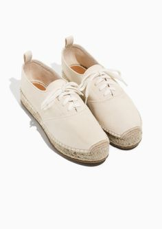 & Other Stories image 2 of Canvas Espadrille Sneaker  in White