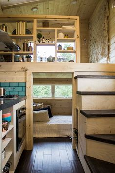 The small pharmacy house on wheels by Tiny Heirloom - architecture and art -. - The small pharmacy house on wheels by Tiny Heirloom – architecture and art – Tiny House – - Tiny House 3 Bedroom, Tiny House Stairs, Tiny House Loft, Tiny House Storage, Best Tiny House, Modern Tiny House, Tiny House Bathroom, Tiny House Plans, Tiny House On Wheels