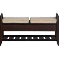 I want this!  it would be perfect in the entry way! Addison Storage Bench with Cushions in Benches | Crate and Barrel