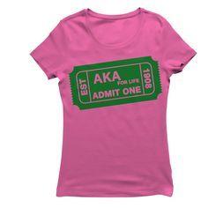 Aka Sorority Gifts, Alpha Kappa Alpha Sorority, Sorority Life, Keep Calm T Shirts, Custom Screen Printing, Admit One, Casual T Shirts, Women's Casual, Alpha Female
