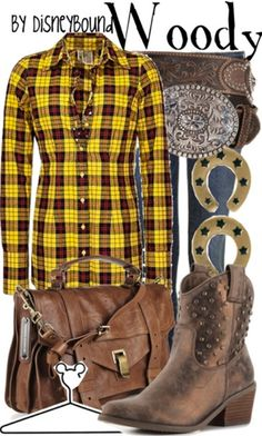 Woody costume To wear for the next time I go to Disney land Disney Themed Outfits, Disney Bound Outfits, Disney Dresses, Disney Clothes, Costume Halloween, Disney Inspired Fashion, Disney Fashion, Fashion Fashion, Character Inspired Outfits