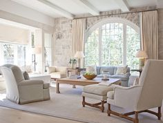 Pursley Architecture - beautiful interior stoned wall