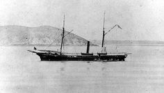 The USS Aroostook in Chinese waters, circa 1867-69.  USS Aroostook was a Unadilla-class gunboat built for the Union Navy during the American Civil War. Aroostook was used by the Navy to patrol navigable waterways of the Confederacy to prevent the South from trading with other countries.