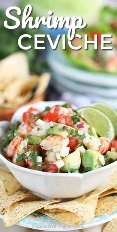 Ceviche Recipe - Spend With Pennies -Easy Shrimp Ceviche Recipe - Spend With Pennies - Confira a receita de 3 Tipos de Ceviche do Tastemade Brasil Avocado Shrimp Ceviche Mexican Appetizers, Appetizer Recipes, Mexican Food Recipes, Mexican Desserts, Shrimp Ceviche, Best Ceviche Recipe, Cooking Recipes, Healthy Recipes, Healthy Food
