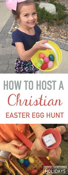 Learn how to host a Christian Easter egg hunt and creatively teach kids about the true meaning of Easter with a fun Easter lesson and Easter activity.Tell the real Easter story a little at a time with special cards inside Easter eggs as part of an Christian Easter egg scavenger hunt. #easteregghuntideas #easteregghunt #easteregghuntparty #christianeaster