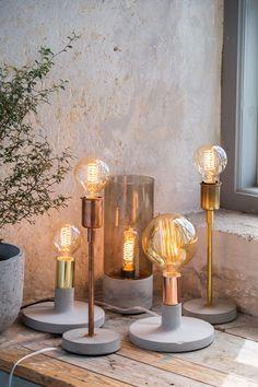 New Autumn Homeware and Accessories Vintage Lighting Decor, Vintage Lighting Diy, Diy Lamp, Diy Lighting, Concrete Diy, Vintage Lighting, Concrete Lamp, Diy Furniture, Concrete Decor