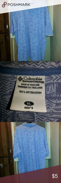 Mens Columbia Sportswear Company XL SS  Shirt Actual Pictures of Mens Columbia Sportswear Company XL SS  Shirt - NO Taxes & FREE SHIPPING.    Make an OFFER - I will either say YES or make a counter offer.  I (slscsi) have 1200+ Positive Transactions on eBay.  Products are in Excellent Condition & Free of Dirt, Holes, Rips or Stains.  Shipping will be with USPS WITH Tracking Number. Columbia Shirts Casual Button Down Shirts