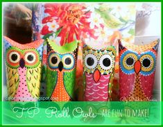 Toilet Paper Roll Owls - A Quick Peek at how the artist makes them :)